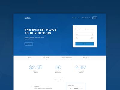 Coinbase - Homepage Design