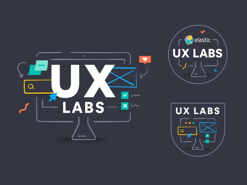 Elastic UX Labs badge illustration ux  ui ux design ux labs ux lab lab ux