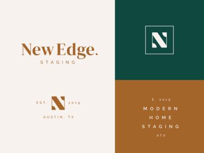 New Edge modern staging brand typography logo
