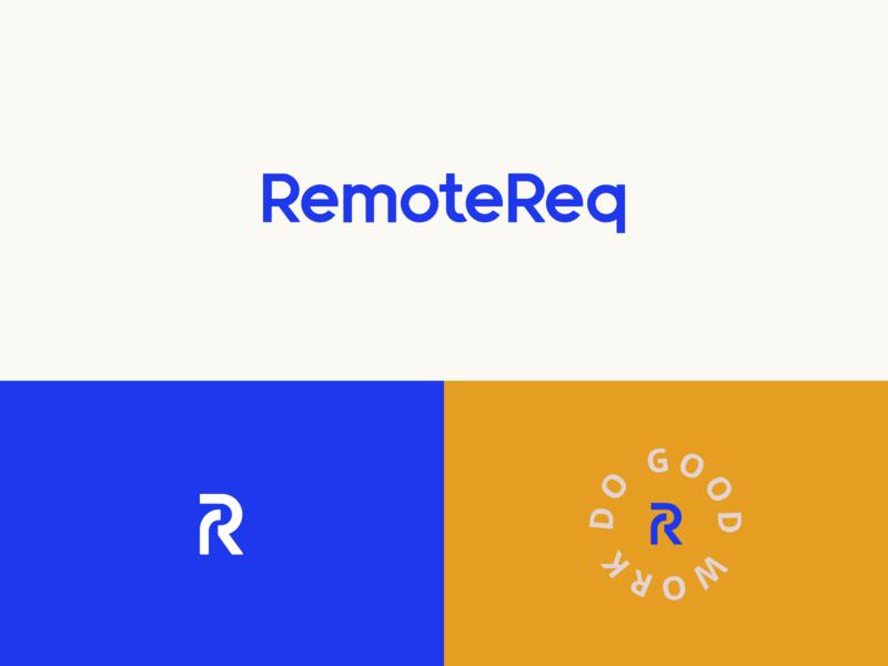 RemoteReq logo branding remote working remote work remote