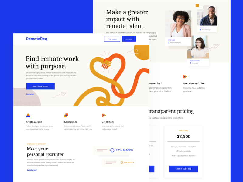 RemoteReq Web job search job website web design web