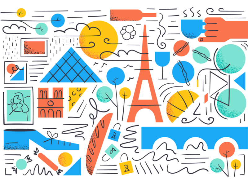 Paris office mural france mural illustration paris