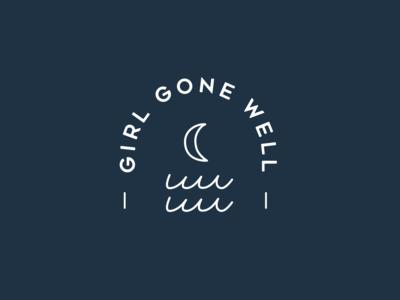Girl Gone Well wellness moon waves branding brand