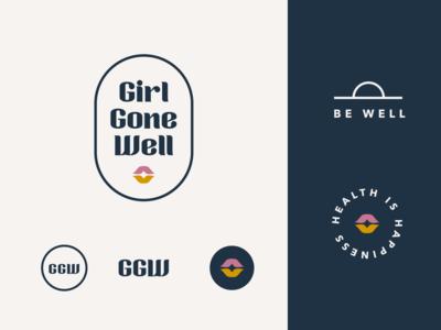 Girl Gone Well wellness logo lips wellness