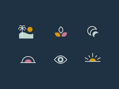Wellness icons icons nature beach wellness