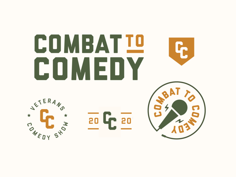 Combat to Comedy branding military combat comedy