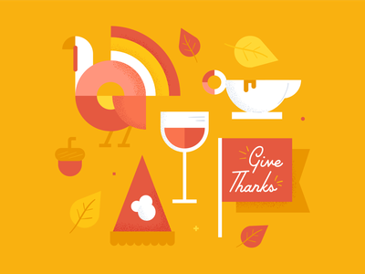 Give Thanks fall illustration holiday turkey give thanks thanksgiving