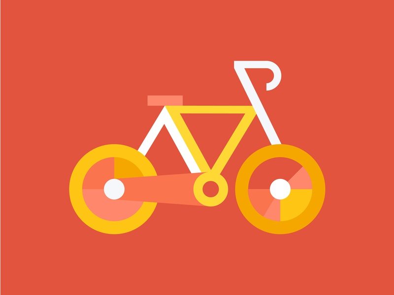 Bike illustration amsterdam bike