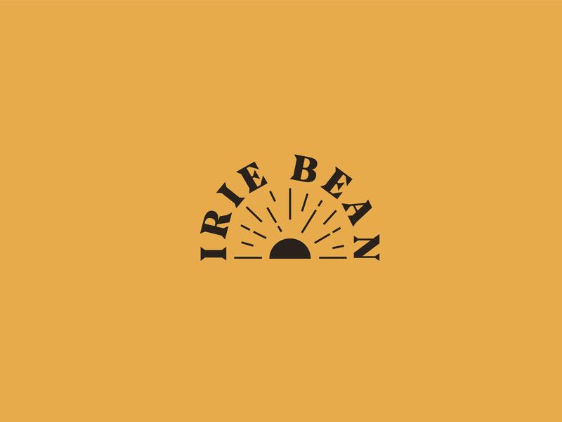 Irie Bean sunshine logo coffee bean irie sun