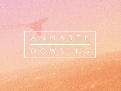 annabel/dowsing vinyl annabel dowsing typography gradient