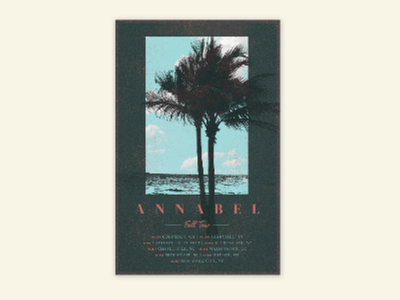 Poster annabel tour poster palm trees sky