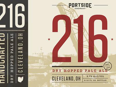 216 beer 6-pack branding packaging cleveland typography