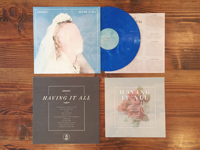 Having It All packaging indie tiny engines layout record vinyl annabel
