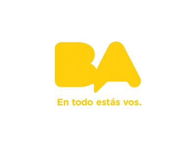 Branding for the City of Buenos Aires, Argentina yellow logotype government tourism logo creation buenos aires argentina city vector illustration logo graphic design design clean branding brandbook brand