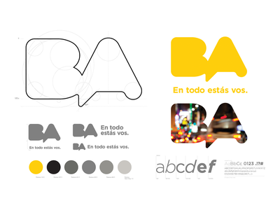 Branding for the City of Buenos Aires, Argentina logotype strategy brand guidelines brand book white yellow buenos aires argentina city brand creation logo graphic design design clean branding brandbook brand