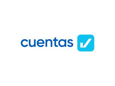 Cuentas OK Branding + Logo ui product tech startup payments money pay bills fintech blue check mark ok logo graphic design design clean branding brandbook brand