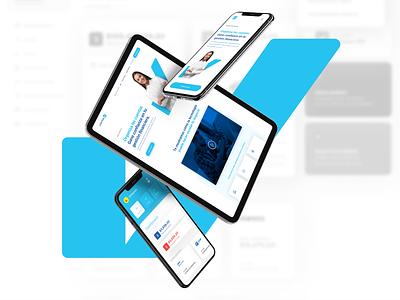 Cuentas OK Landing Page & Branding payment bills banking blue marketing website landing page app logo graphic design design clean branding brandbook brand