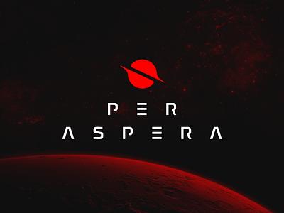 Per Aspera Video Game Branding guidelines dark black red space steam videogame game logo graphic design design clean branding brandbook brand