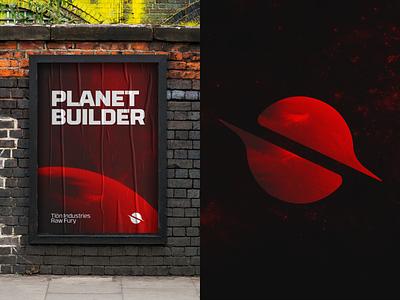 Per Aspera Poster and Logo Expansion mockup game space poster logo graphic design design clean branding brandbook brand
