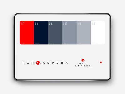 Per Aspera Branding Color Palette brand book guideline palette color vector ui illustration logo graphic design design clean branding brandbook brand