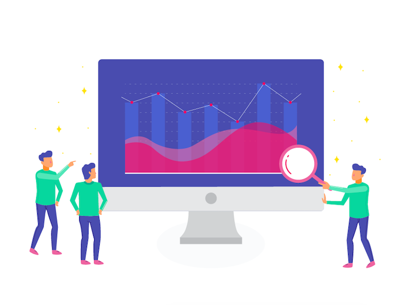 Monitor & Track Usage Activity app android ui design visuals ui monitor track analyse graphs charts metrics illustration