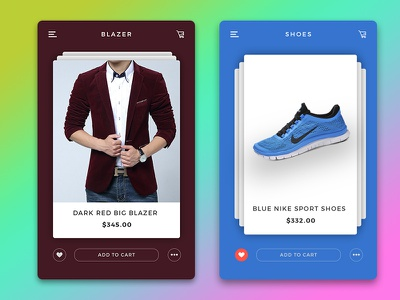 Detail Product - Ecommerce Apps blazer shoes add to cart card slider shop ecommerce app detail product