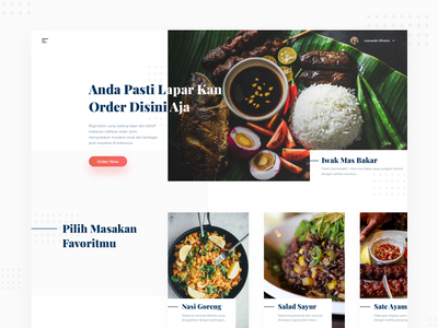 Header Food Exploration unique clean webpage homepage ordering ecommerce landing-page exploration food header