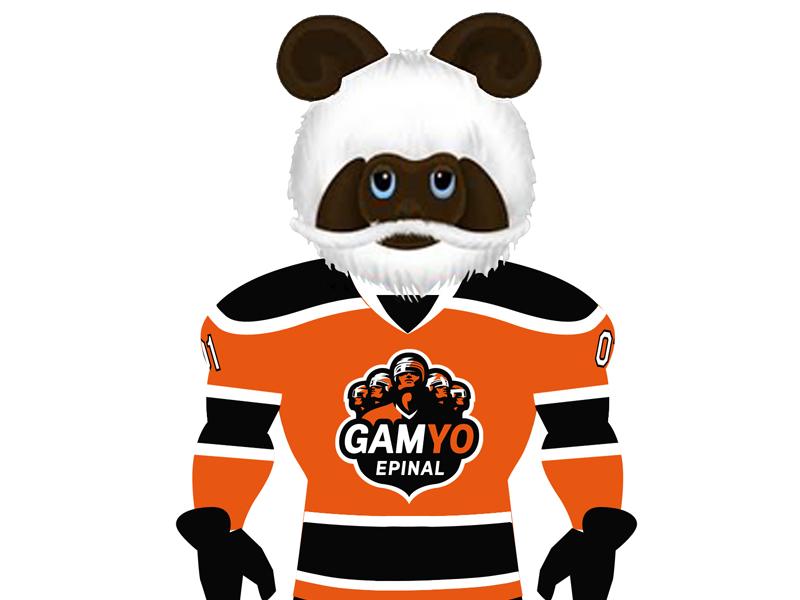 Mascotte Gamyo Epinal gamyo hockey mascot