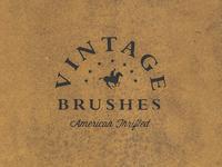 Vintage Book Brush Set