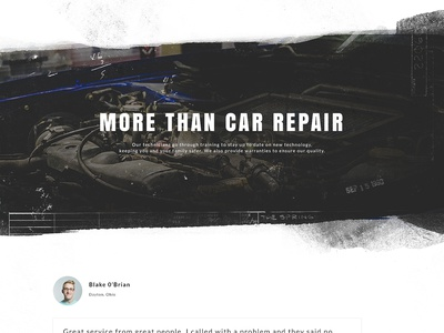 Ted's Auto Website texture automotive car repair website one page simple icons teds auto local photography