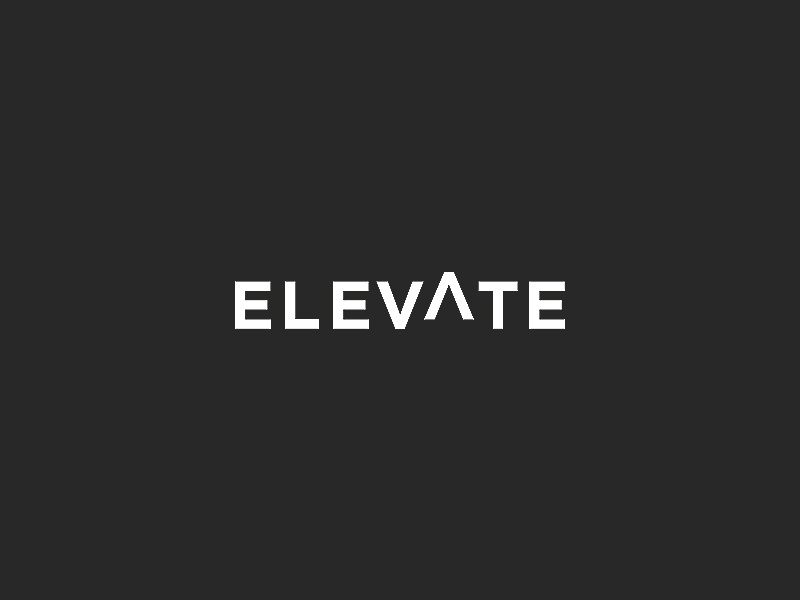 Elevate Logo simple clean type logo church youth group custom concept brand identity