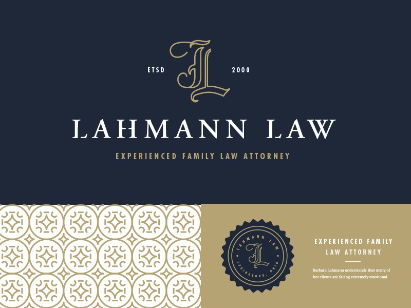 Lahmann Lawyer simple lahmann lawyer attorney monogram stamp clean pattern typography type logo