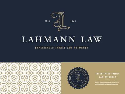 Lahmann Lawyer simple lahmann lawyer attorney monogram stamp clean pattern typography type logo