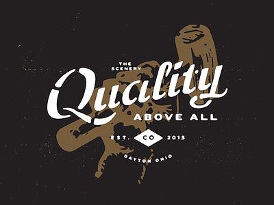 The Scenery Shirt Design script custom type hammer hand simple dayton ohio quality stencil script texture shirt the scenery