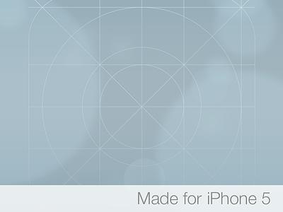 iOS 7 Icon Grid Wallpaper for iPhone 5 ios7 grid wallpaper iphone5 gradient defocus apple blue