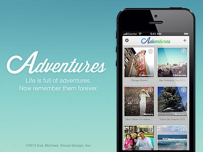 Adventures for iPhone adventures evernote travel ui ux design iphone
