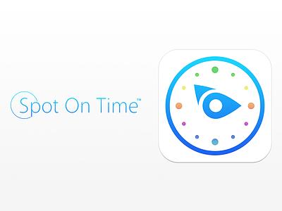 Spot On Time Icon + Branding icon branding spotontime ios7ratio ios colorful