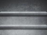Concrete Shelves Wallpaper for iPhone
