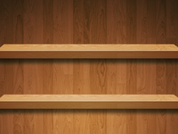 Wood Shelves Wallpaper for iPhone