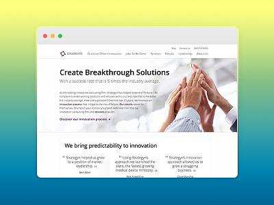 Strategyn.com webdesign strategyn innovation web