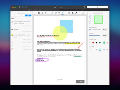 PDF Expert for Mac ui pdf mac app