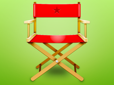 SPFX chair director directors chair red star wood