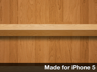 Wooden Shelves Wallpaper For iPhone 5