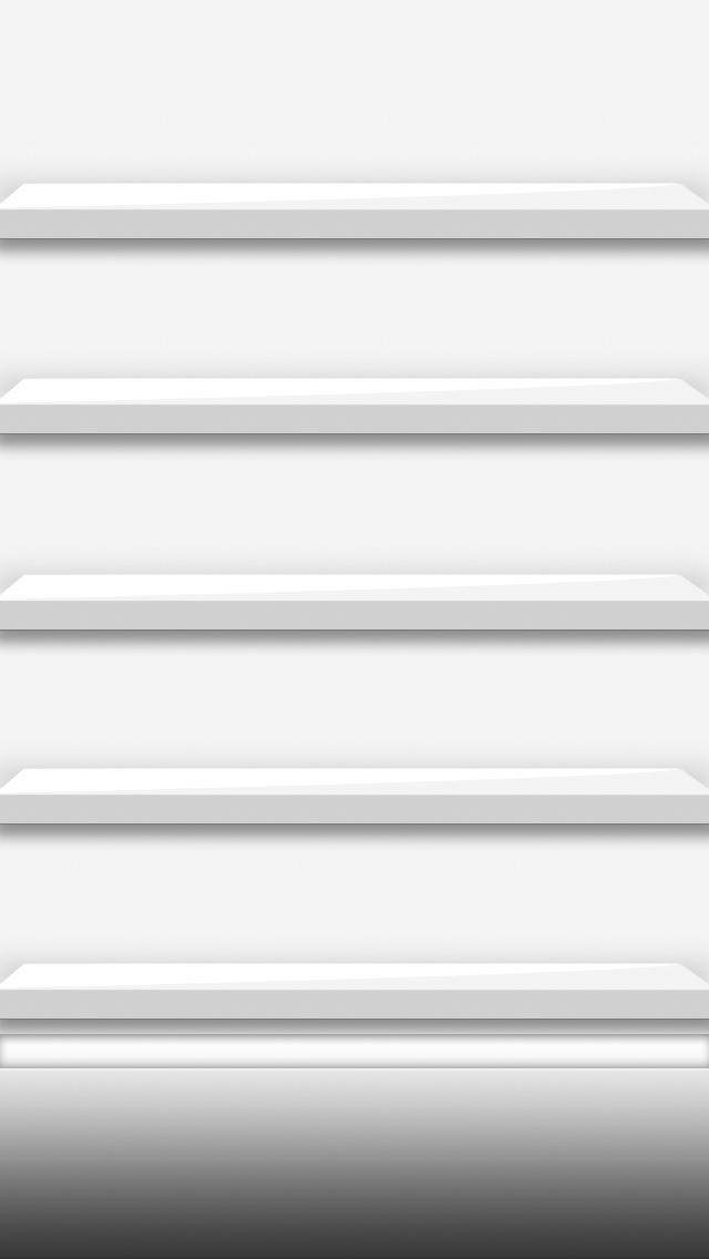 Iphone5 white shelves