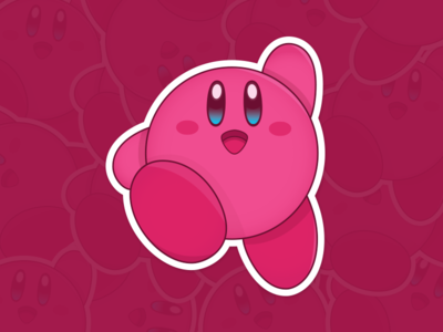 Playoff!! Kirby Sticker for Dribbble Pack