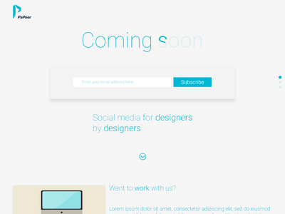 Papeer Coming Soon Page