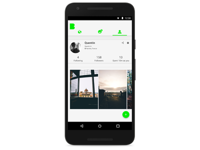 Beme App Profil Page