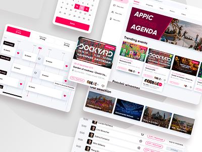 Festival app mobile ui summer festival mobile design web design branding design app interface web ux ui