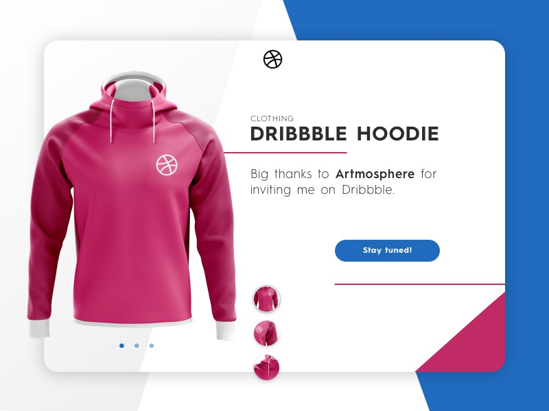 The Dribbble Hoodie clothing web design product ux web ui hello first shot dribbble first