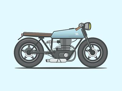 Honda cafe racer honda engine illustrator bike racing motorcycle moto cafe racer illustration